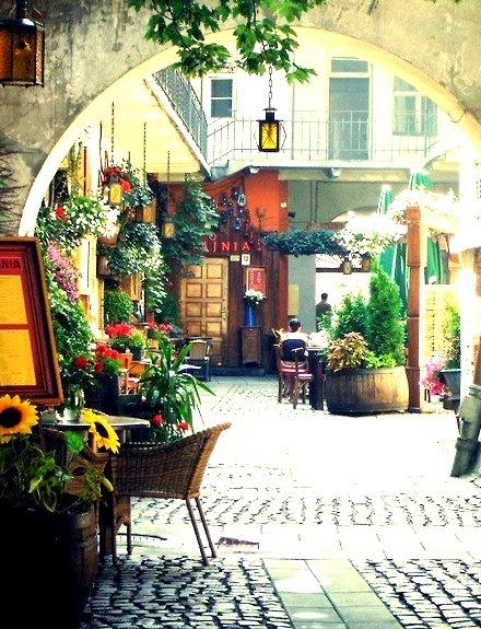 Outdoor Restaurant, Krakow, Poland