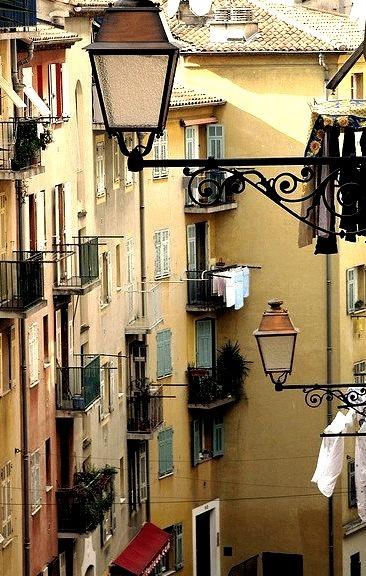 Balconies, Nice, France