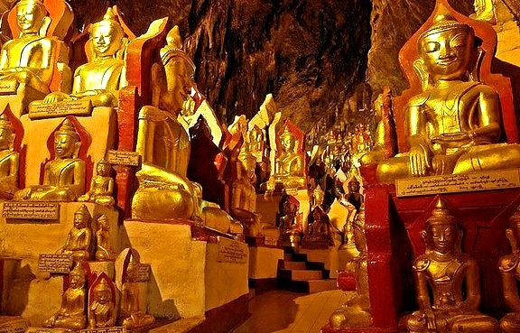 Pindaya Caves located next to the town of Pindaya, are a Buddhist pilgrimage site and a tourist attraction located on a limestone ridge in the Myelat region,...