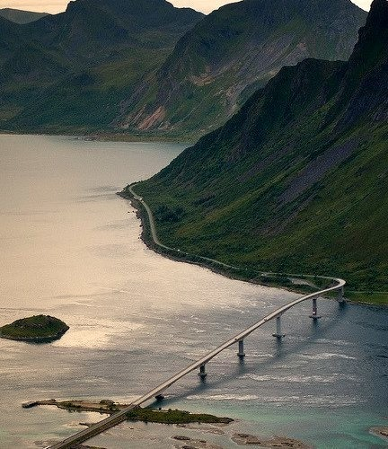 by henrikj on Flickr.View from Keppstadsheia, Lofoten Islands, Norway.