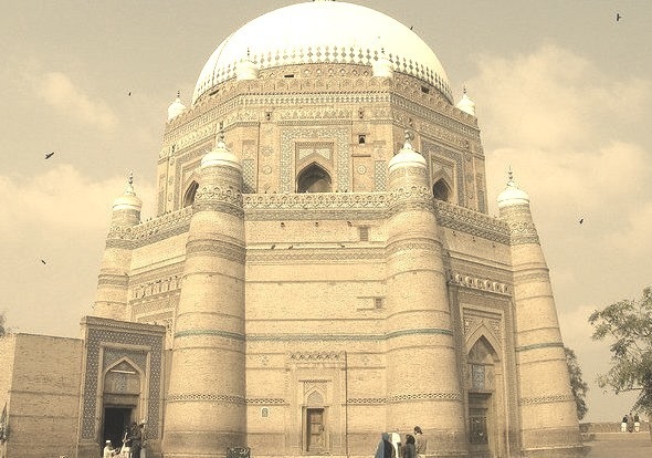 Mausoleum of shah Rukn-e-Alam in Multan, Pakistan