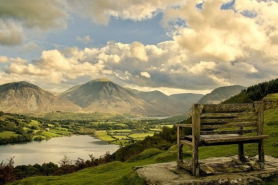 Loweswater view in Lake District, Cumbria, England