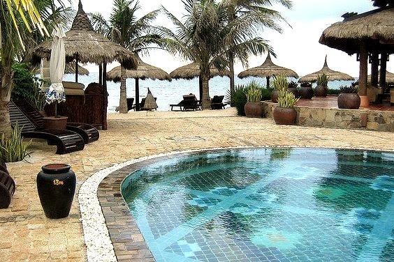 Pool and sea view at Muine Beach, Vietnam