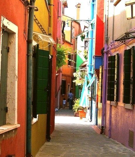 Narrow Street, Burano, Italy