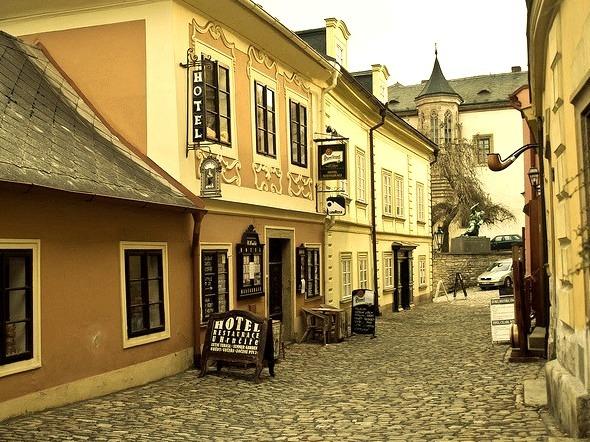 The scenic storefront of Kutna Hora, Bohemia, Czech Republic