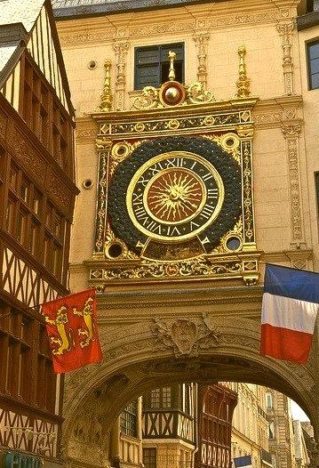 Rue de Gros-Horloge in Rouen, Normandy, France
