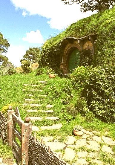 Hobbit houses in Matamata, New Zealand