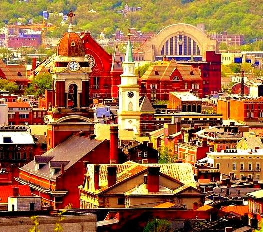 Over-the-Rhine historic district in Cincinnati, Ohio, USA