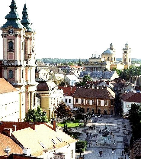 Panoramic view in Eger, one of the most beautiful cities in Hungary
