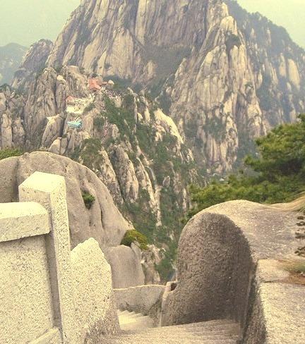Rocky pathways of Huangshan Mountain, Anhui, China