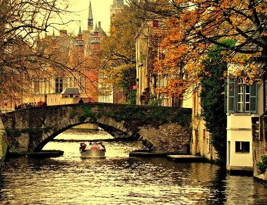 Shades of autumn, Bruges, Belgium
