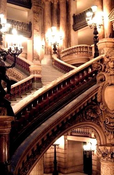 Stairway, Opera House, Paris, France