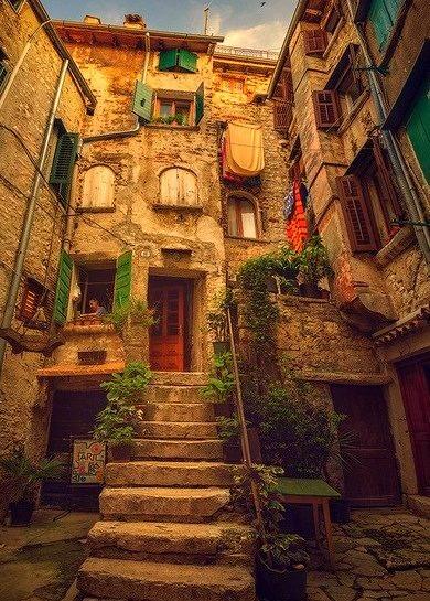 Stairway, Rovinj, Croatia