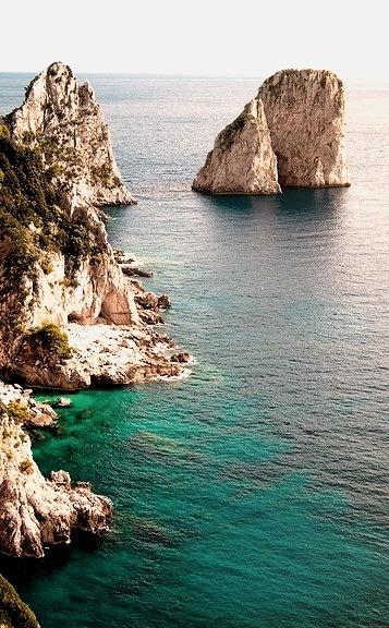 Beautiful coastline on Capri Island, Italy