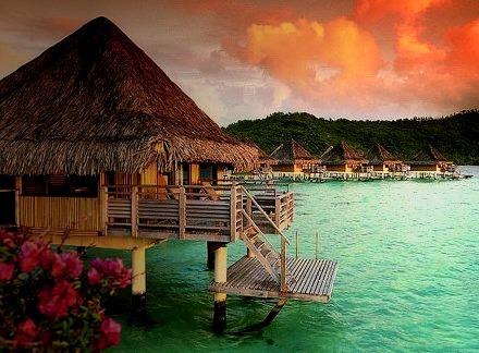 Over the Water Bungalow, Bora Bora
