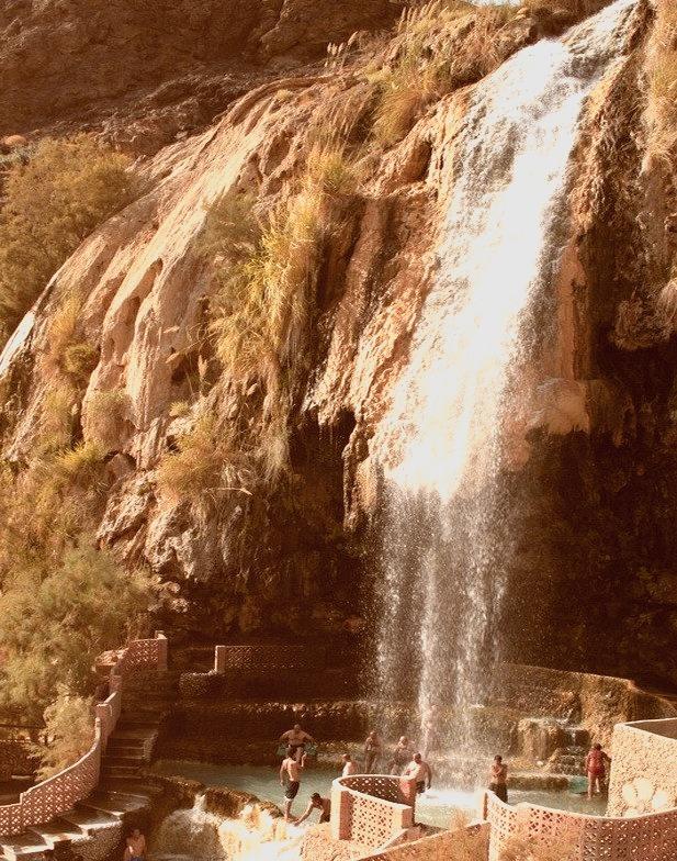 Ma'in Hot Springs on the edge of Wadi Mujib, Jordan