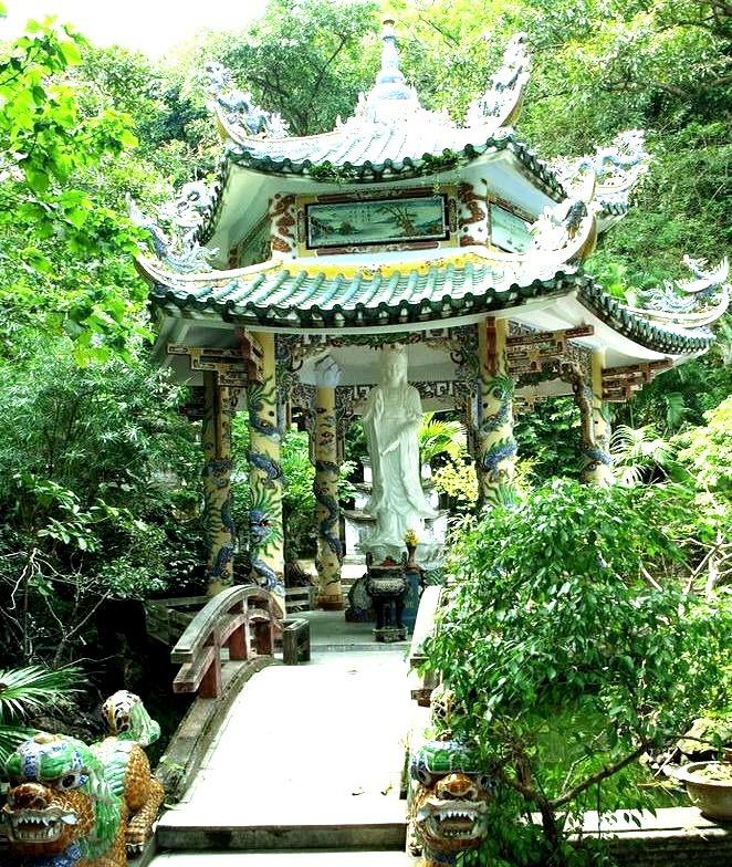 Xa Loi Temple in Marble Mountains, near Da Nang, Vietnam