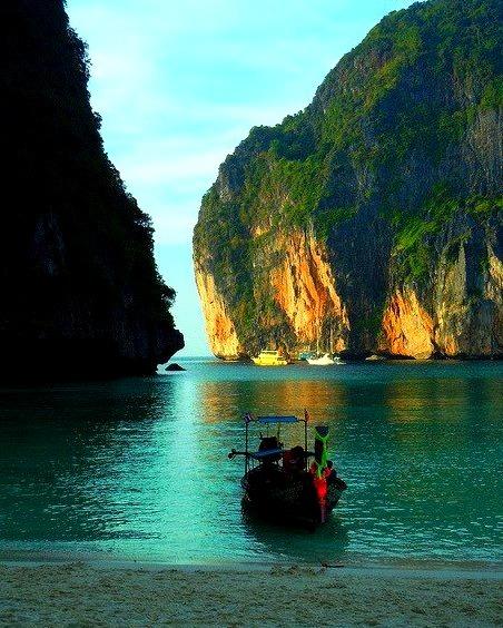 Maya Bay in Phi Phi Leh Islands, Thailand
