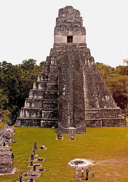 Temple of the Great Jaguar at Tikal mayan site, Guatemala