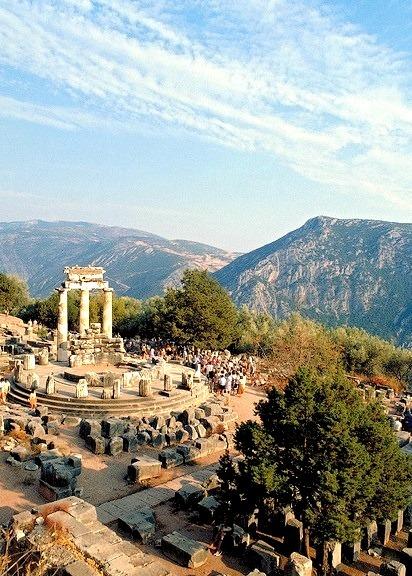 The Sanctuary of Athena at Delphi, Greece
