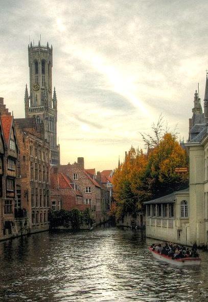 Autumn in Bruges, Belgium