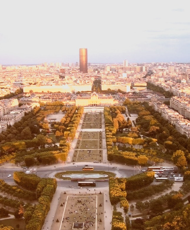 View from Eiffel Tower in Paris, France