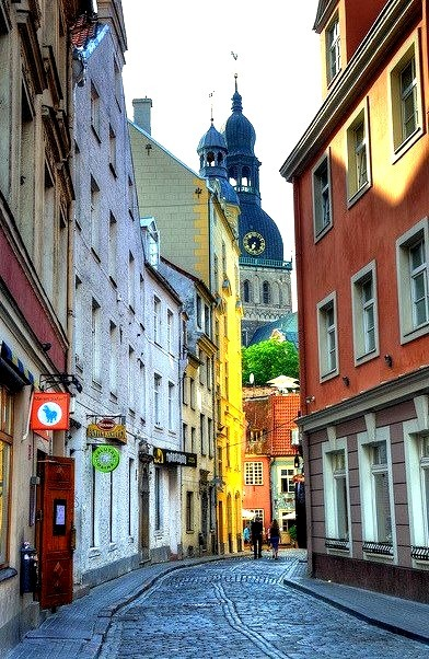 Street view in the old town, Riga / Latvia