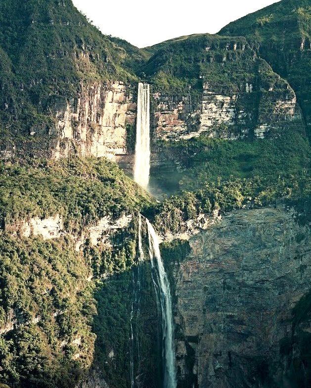 Catarata del Gocta en Chachapoyas / Peru